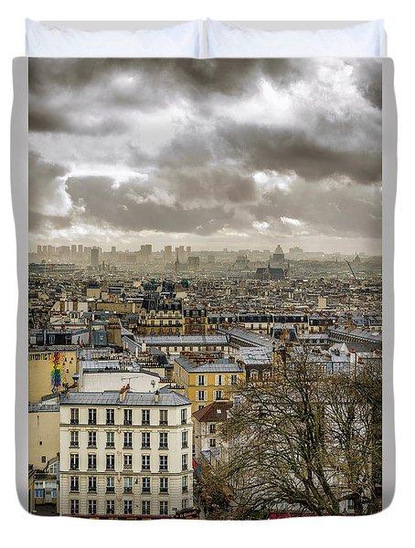 Paris As Seen From The Sacre-coeur Duvet Cover