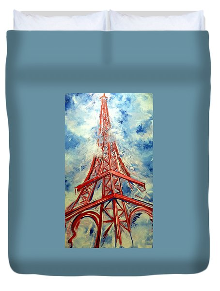 Paris Backdrop Duvet Cover