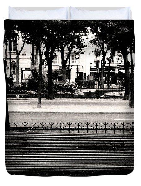 Paris Bench Duvet Cover