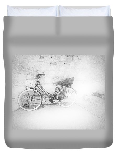 Paris Bicycle Duvet Cover