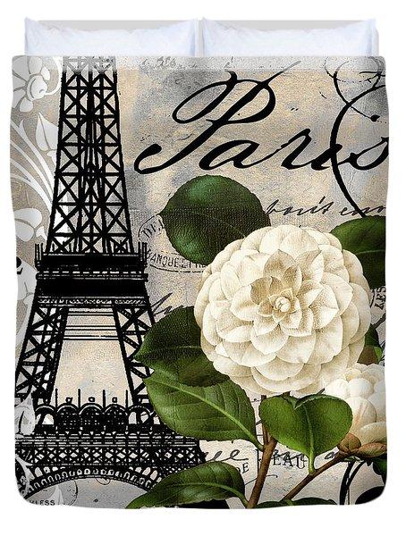 Paris Blanc I Duvet Cover