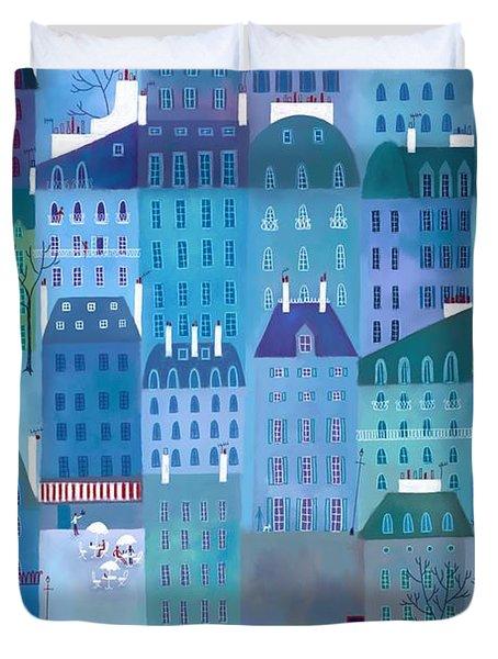 Paris Blues Duvet Cover by Nic Squirrell