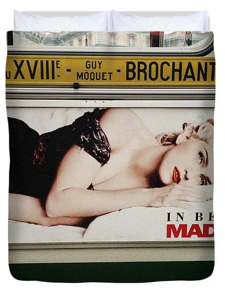 Paris Bus Duvet Cover
