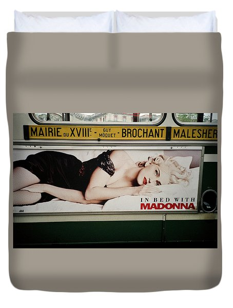 Paris Bus Duvet Cover