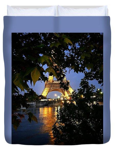 Paris By Night Duvet Cover by Nancy Ann Healy