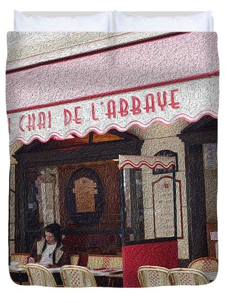 Paris Cafe 1 Duvet Cover
