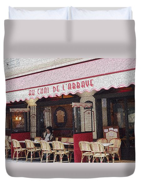 Paris Cafe 1 Duvet Cover by Matthew Bamberg