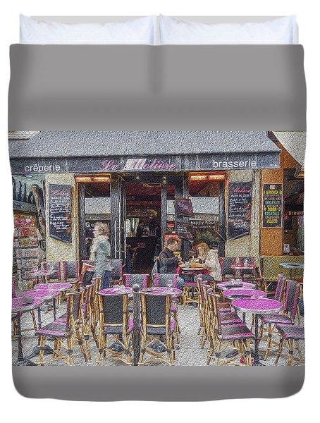Paris Cafe 2 Duvet Cover by Matthew Bamberg