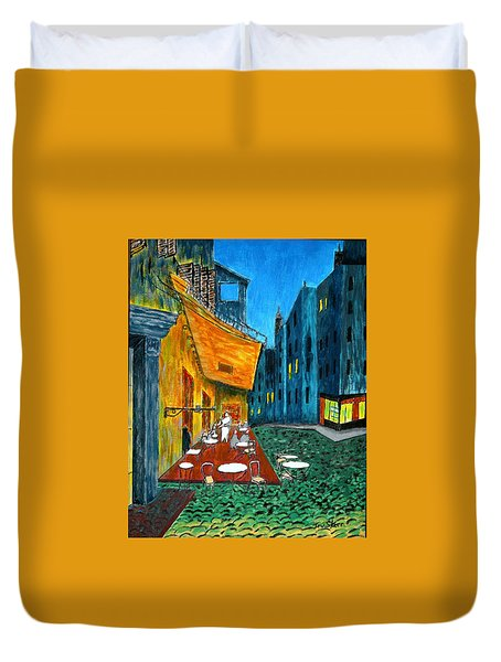 Paris Cafe Duvet Cover by Irving Starr