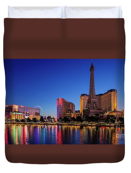 Paris Casino At Dawn 2 To 1 Ratio Duvet Cover