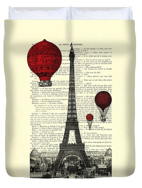 Paris, City Of Love Duvet Cover