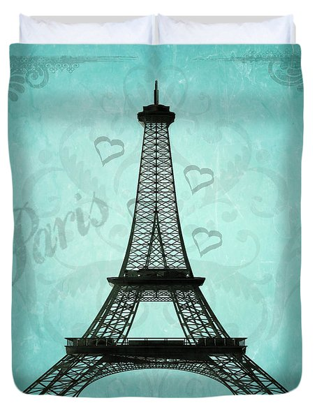 Paris Collage Duvet Cover by Jim And Emily Bush