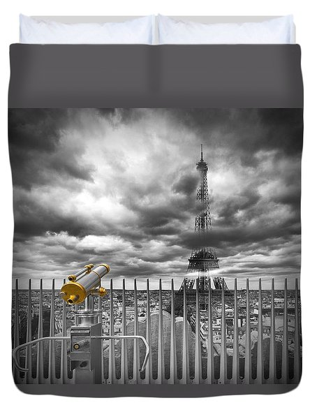Paris Composing Duvet Cover by Melanie Viola