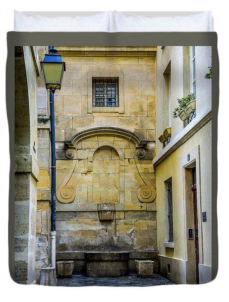Paris Corner Le Marais Duvet Cover
