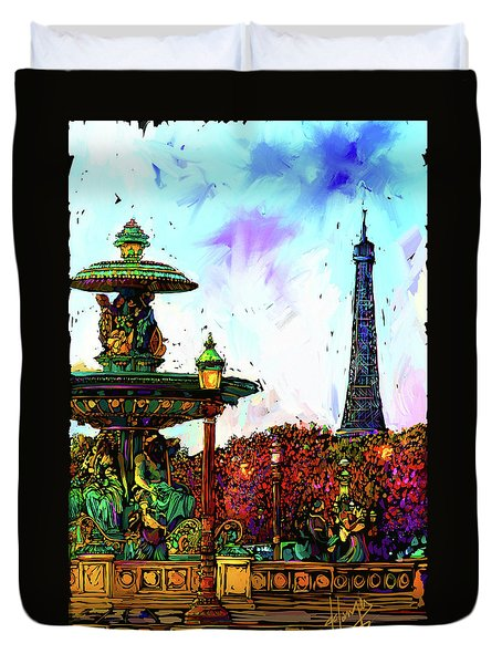 Paris Duvet Cover by DC Langer