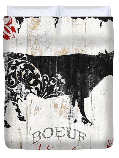 Paris Farm Sign Cow Duvet Cover