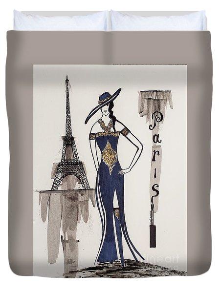 Paris Fashion Duvet Cover