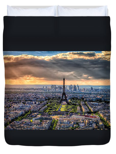Paris From Above Duvet Cover by Tim Stanley