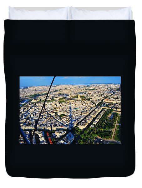 Paris From Tour Eiffel Duvet Cover