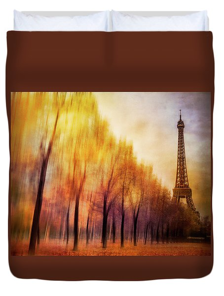 Paris In Autumn Duvet Cover