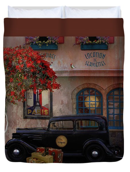 Duvet Cover featuring the digital art Paris In Spring by Jeff Burgess