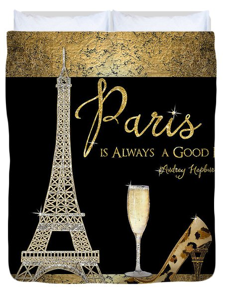 Paris Is Always A Good Idea - Audrey Hepburn Duvet Cover