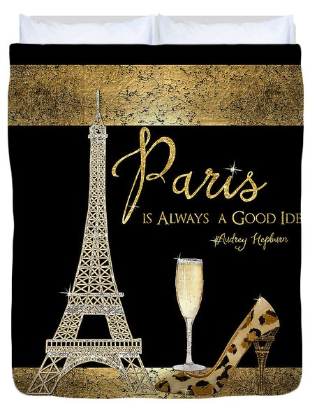Paris Is Always A Good Idea - Audrey Hepburn Duvet Cover
