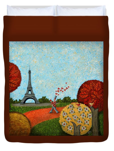 Paris Je T Aime Duvet Cover