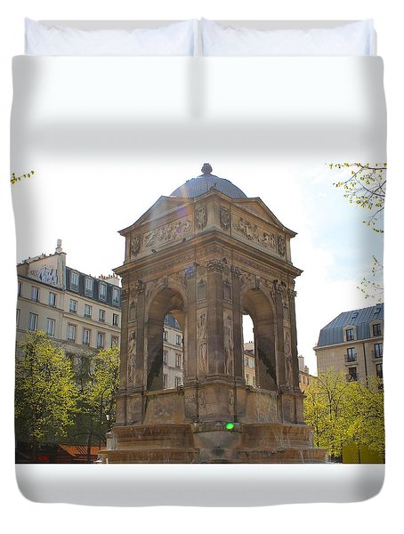 Paris Duvet Cover by Kaitlin McQueen