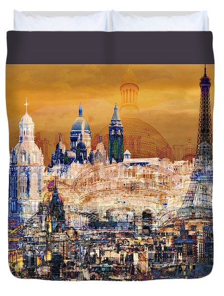 Paris Duvet Cover by Lynda Payton