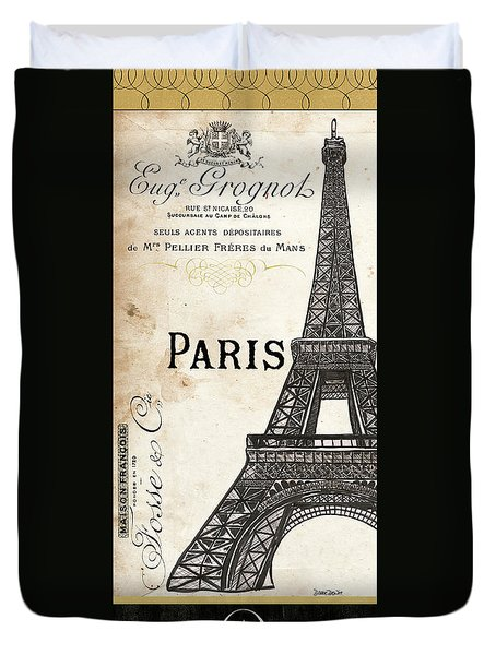 Paris, Ooh La La 1 Duvet Cover by Debbie DeWitt