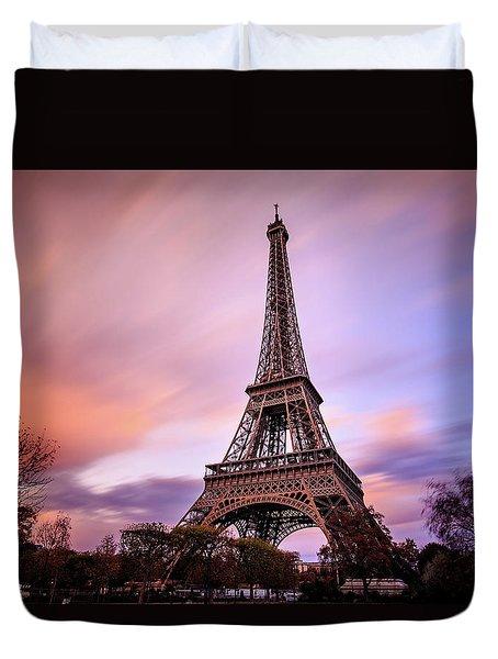 Paris Pastels Duvet Cover by Jennifer Casey