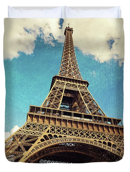 Paris Photography - Eiffel Tower Duvet Cover