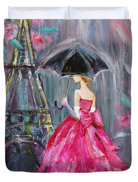 Paris Rain Duvet Cover