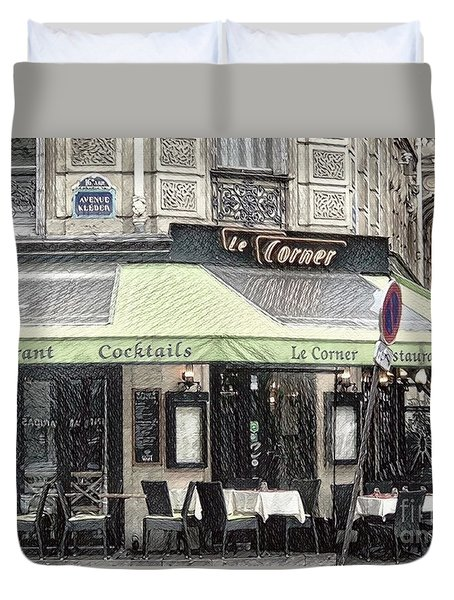 Paris - Restaurant Duvet Cover