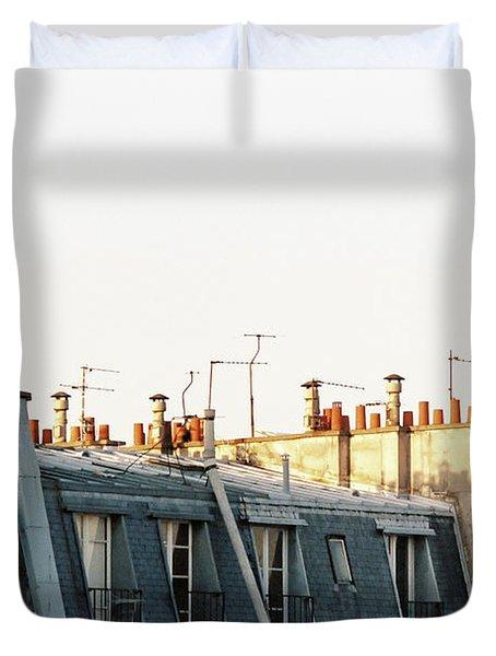 Paris Rooftops Duvet Cover