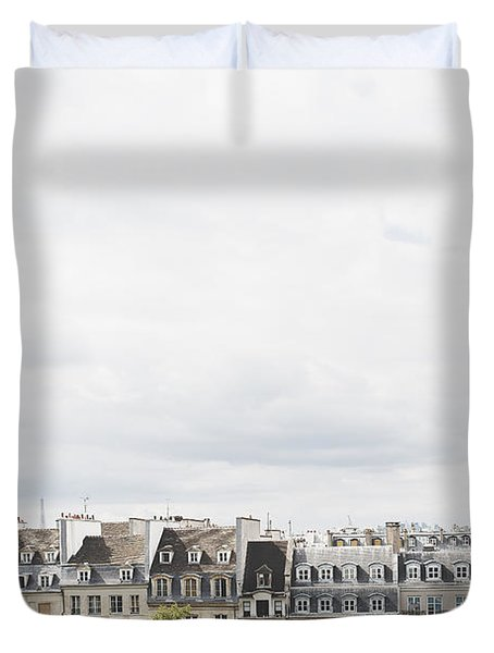 Paris Rooftops View From Centre Pompidou Duvet Cover by Ivy Ho
