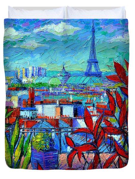 Paris Rooftops - View From Printemps Terrace   Duvet Cover