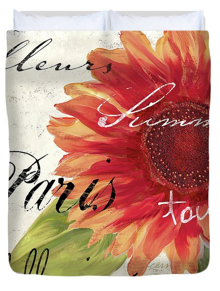 Paris Songs II Duvet Cover