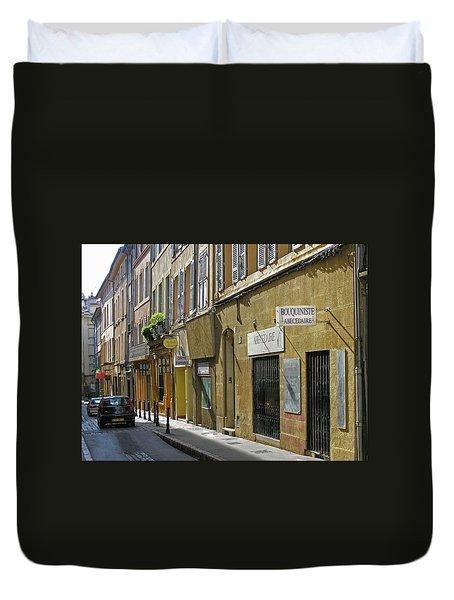 Paris Street Scene Duvet Cover