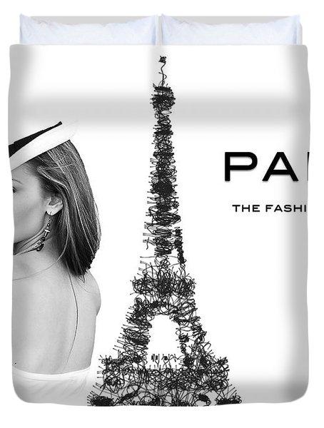 Paris The Fashion Capital Duvet Cover