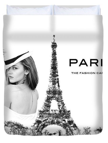 Paris The Fashion Capital Duvet Cover