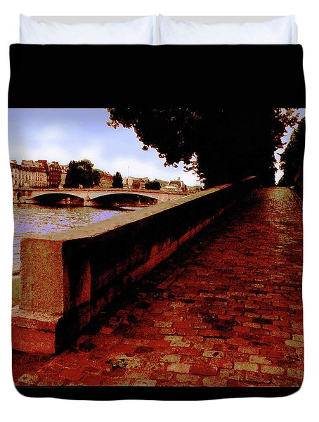 Paris - View Of The Seine Duvet Cover