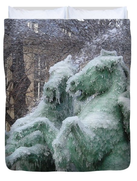 Paris Winter Duvet Cover