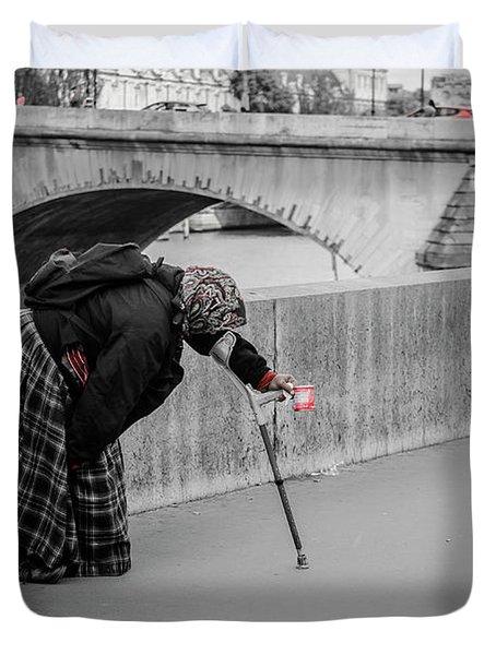 Parisian Beggar Lady Duvet Cover