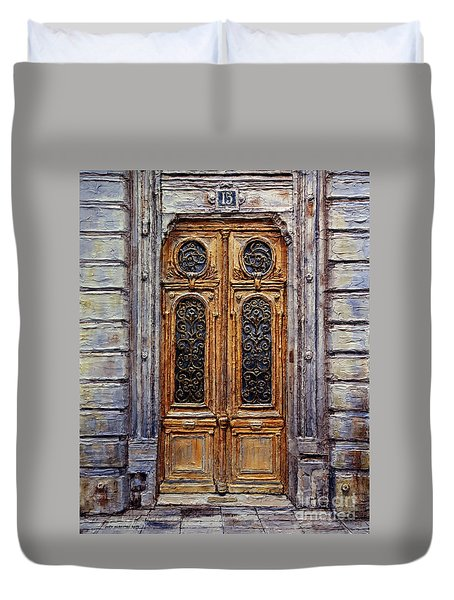 Parisian Door No. 15 Duvet Cover