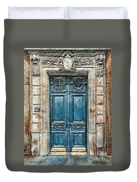 Parisian Door No. 3 Duvet Cover