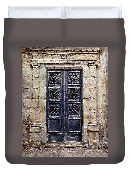 Parisian Door No.40 Duvet Cover