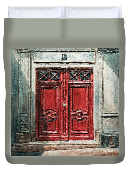 Parisian Door No.9 Duvet Cover