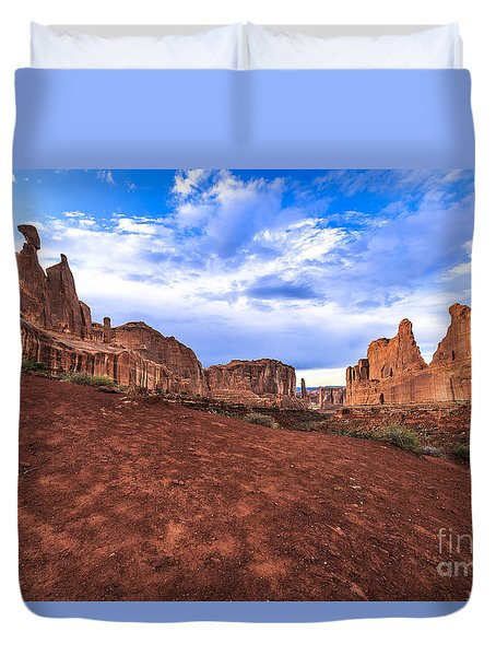Park Avenue Arches National Park Duvet Cover